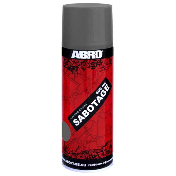 Краска-спрей ABRO SABOTAGE 301 серый, 400 мл SPG-301