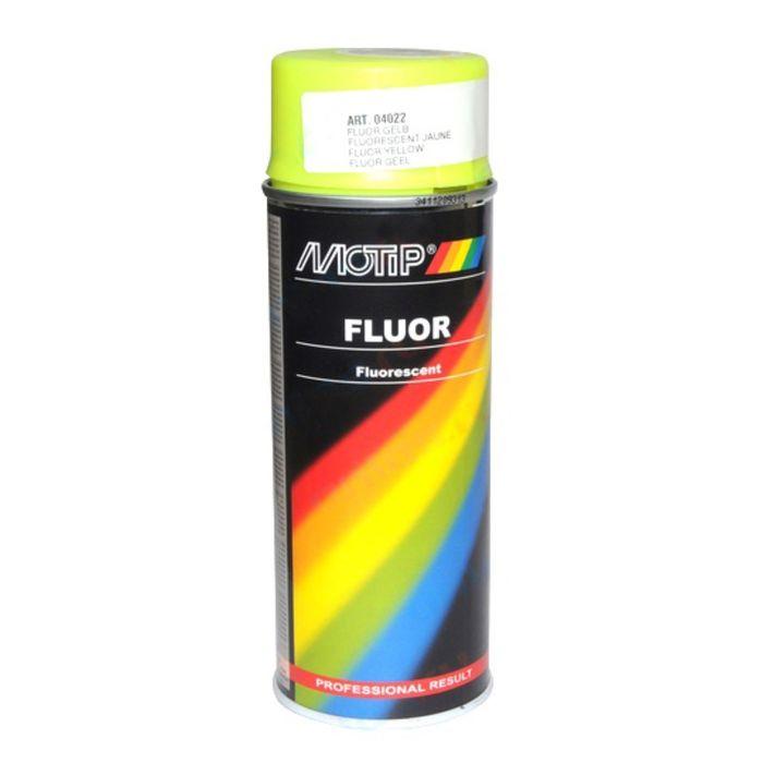 Эмаль винил желтая флуор, 500 мл , MOTIP