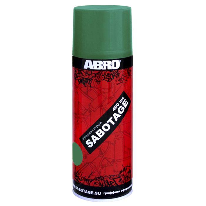 Краска-спрей ABRO SABOTAGE 37 сочно-зелёная, 400 мл SPG-037