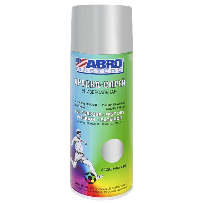 Краска-спрей ABRO MASTERS, 400 мл, алюминиевая SP-026-AM