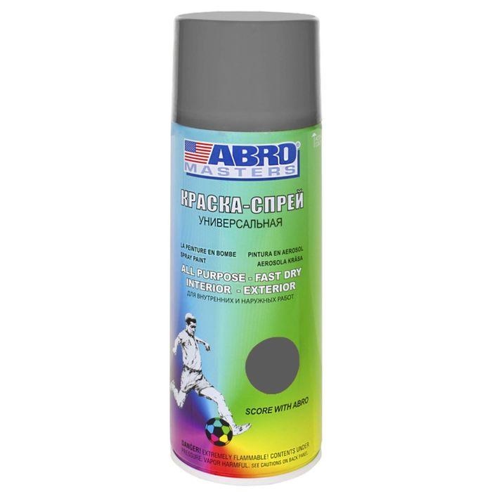 Краска-спрей ABRO MASTERS, 400 мл, серая SP-084-AM