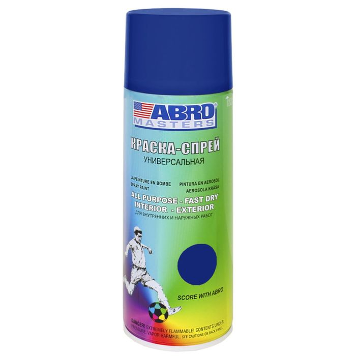 Краска-спрей ABRO MASTERS, 400 мл, темно-синяя SP-038-AM