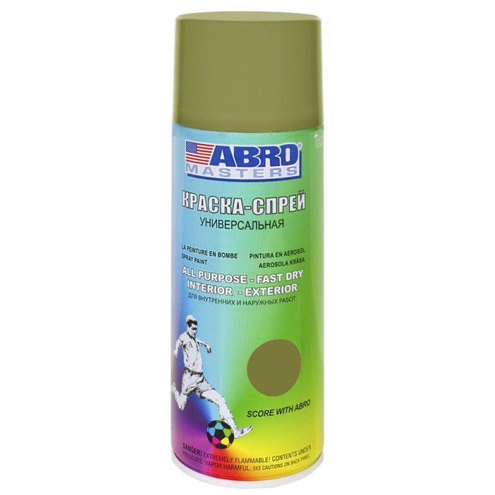 Краска-спрей ABRO MASTERS, 400 мл, хаки SP-090-AM