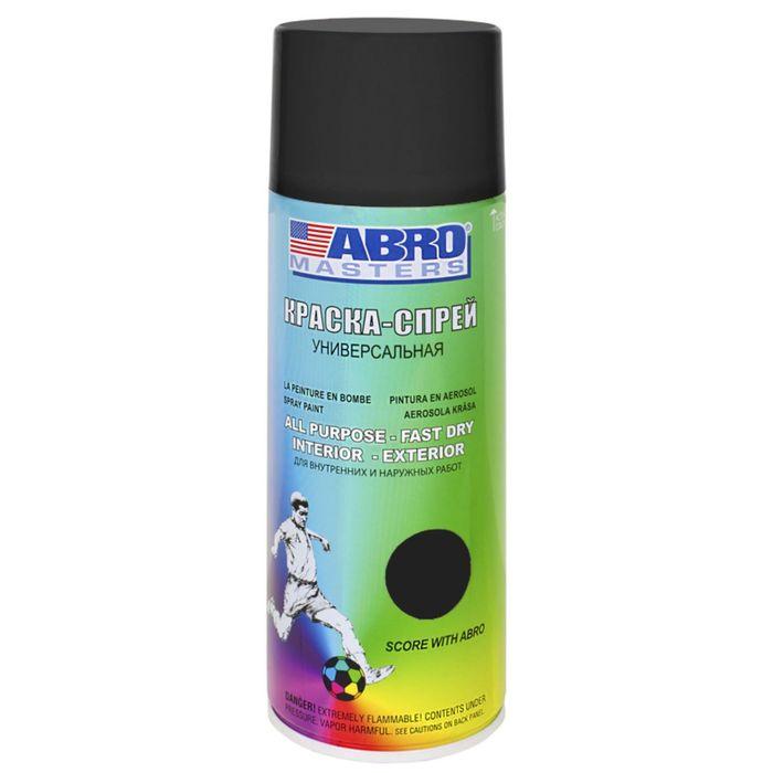 Краска-спрей ABRO MASTERS, 400 мл, черный матовый SP-012-AM