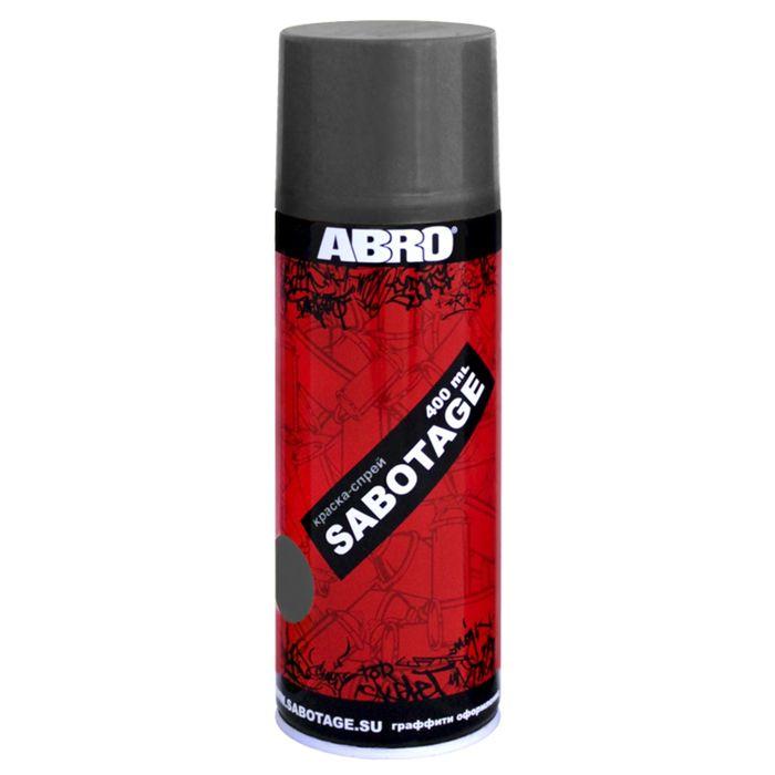 Краска-спрей ABRO SABOTAGE 304 тёмно-серый, 400 мл SPG-304