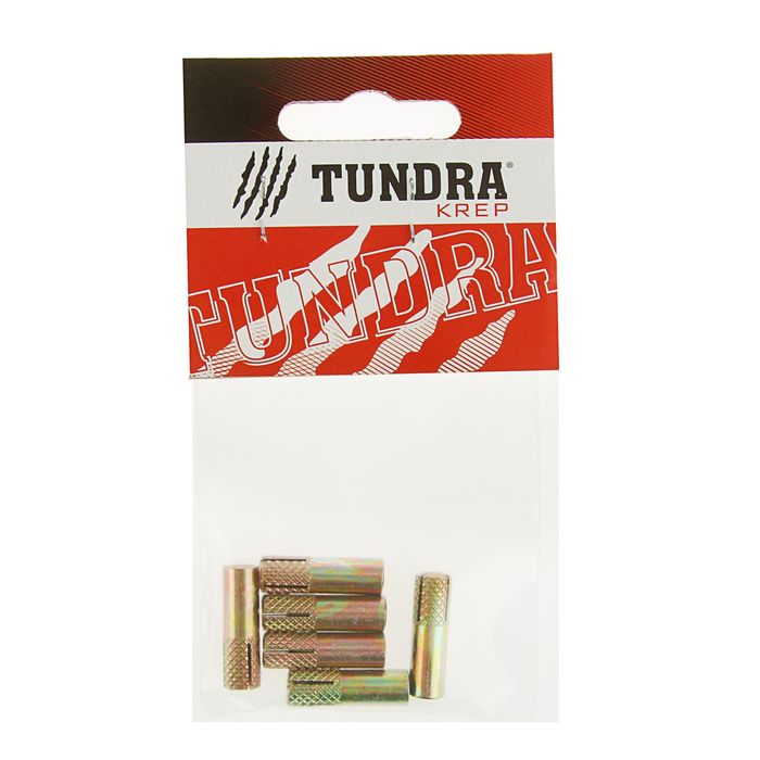 Анкер забиваемый оцинкованный TUNDRA krep, М6, в пакете 6 шт.