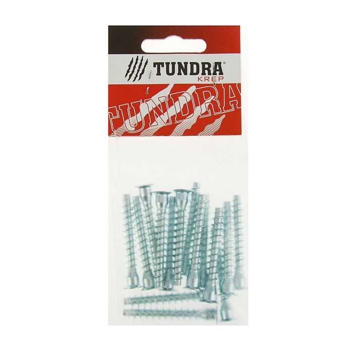 Стяжка мебельная (винт конфирмат) TUNDRA krep, 7х50 мм, в пакете 15 шт.