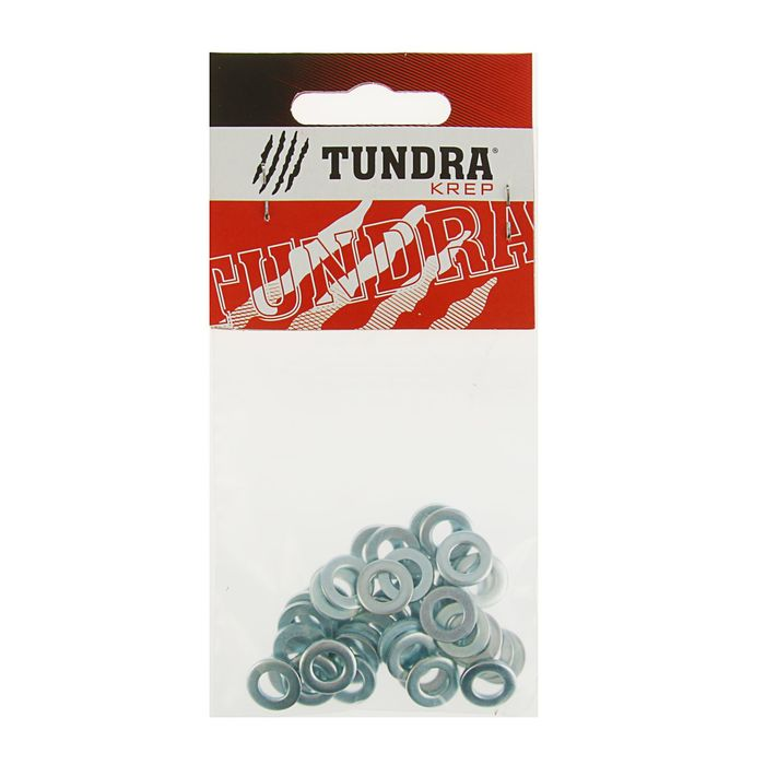 Шайба плоская DIN125а TUNDRA krep, оцинкованная, М6, в пакете 40 шт.
