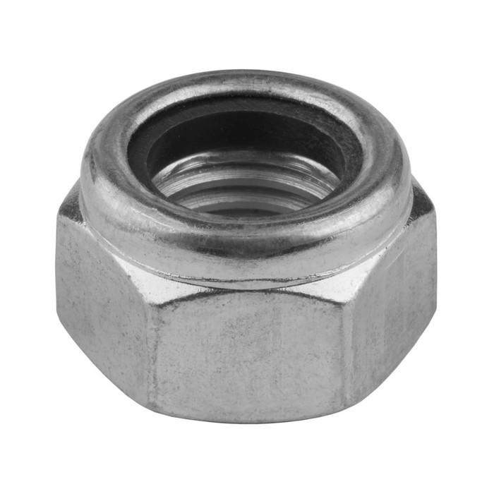 Гайка самоконтрящаяся, с нейлоновым кольцом DIN 985, KRAFTOOL, M20, оцинкованная, 50 шт.