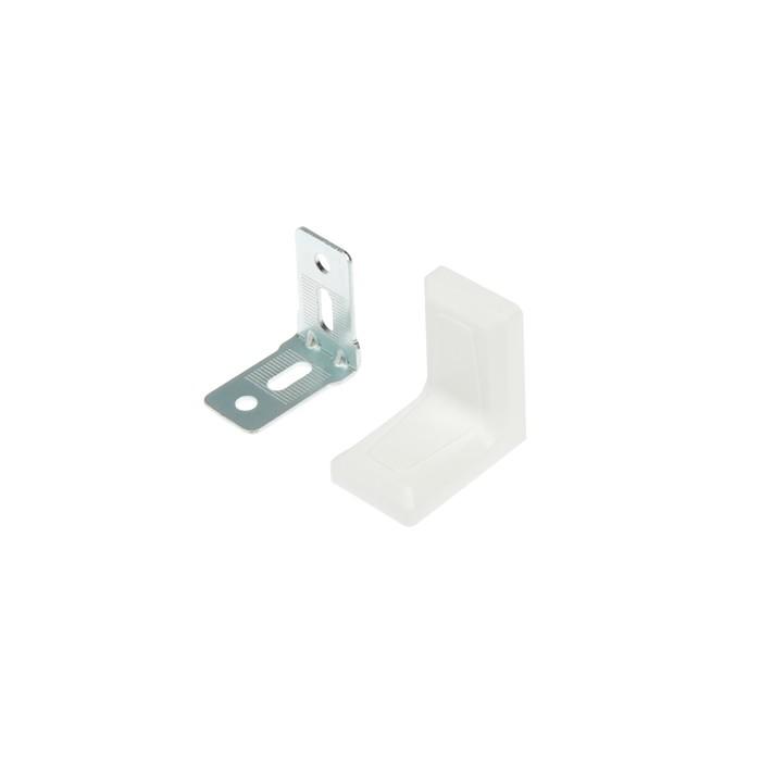 Уголок с декоративной накладкой, 26х26, белый, 250 шт.