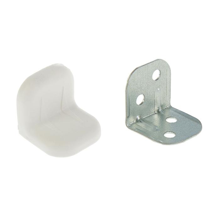 Уголок крепежный, с пластиковой крышкой, белый, тип 2