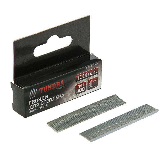 "Гвозди для степлера ""TUNDRA basic"" закалённые, тип 300, (1,25 х 1,05 мм), 12 мм (1000 шт.)"