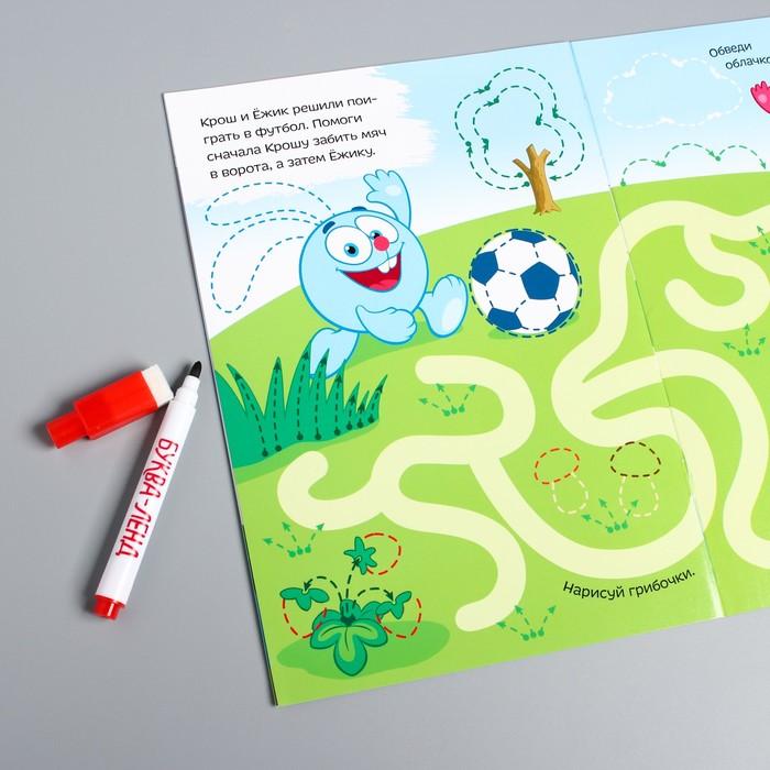 Книжка «Пиши-стирай. Рисовалки», Смешарики, 12 листов