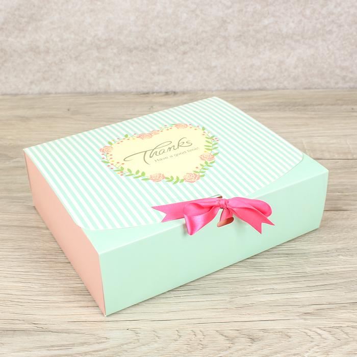 Коробка сборная для сладкого 23 х 11,5 х 5 см