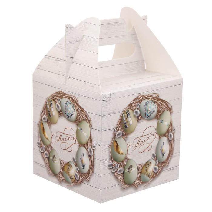 Коробка складная «С Пасхой», 14 × 14 × 24 см
