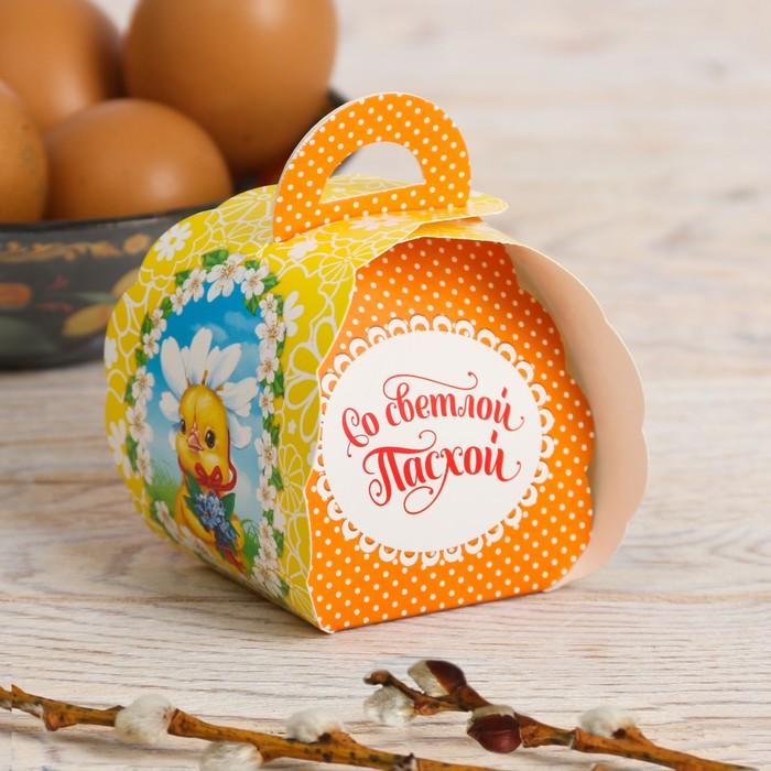 Пасхальная коробочка для яйца «Цыплята», 7.3 см×7.5 см×10 см