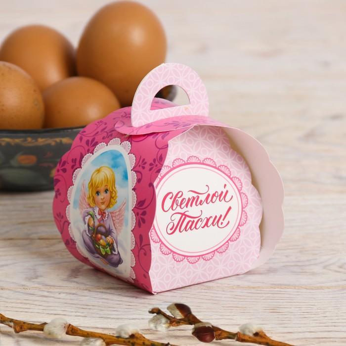 Пасхальная коробочка для яйца «Ангелочки», 7.3 см×7.5 см×10 см