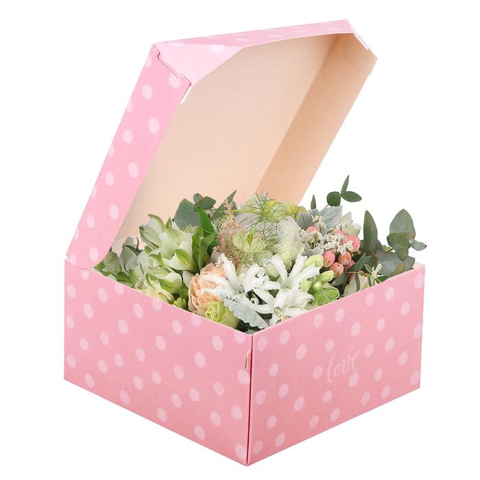 Коробка из картона Love, 17 × 9 × 17 см