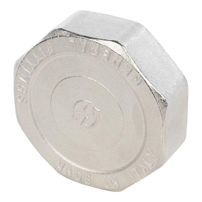 "Заглушка STOUT, никелированная, наружная резьба 2"", SFT-0027-000002"