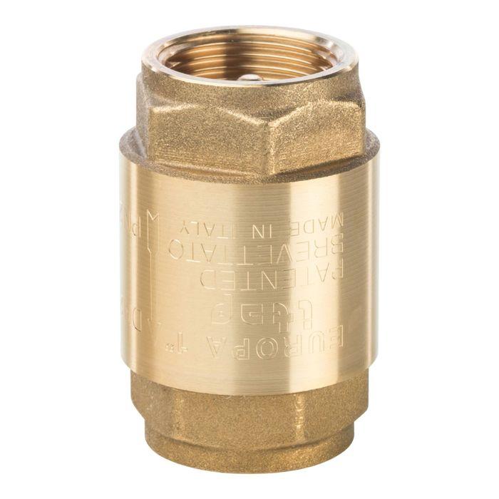 """Обратный клапан STOUT, 1"""", пружинный, муфтовый, с металлическим седлом, SVC-0001-000025"""