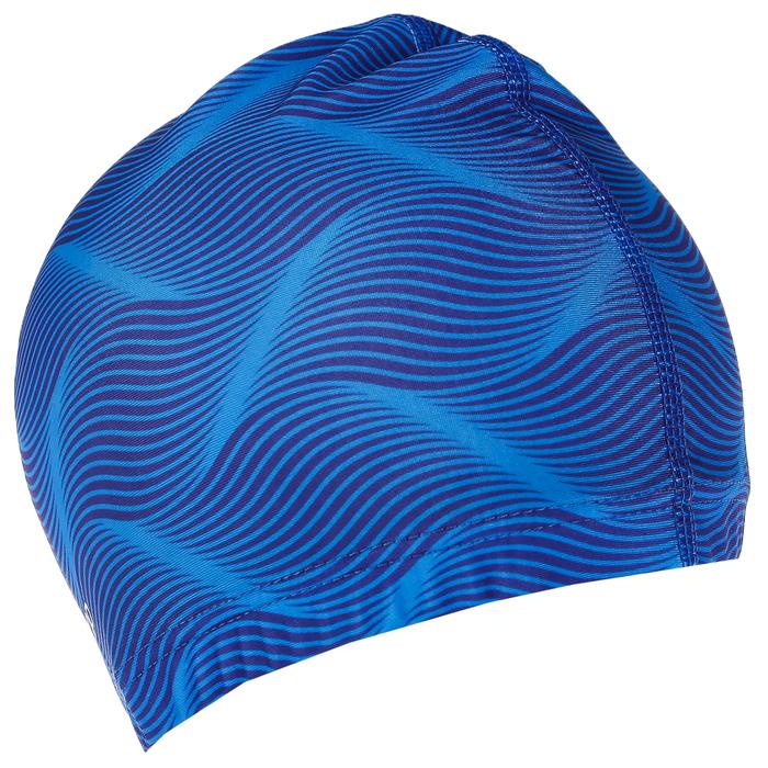 Шапочка для плавания, взрослая, цвет голубой