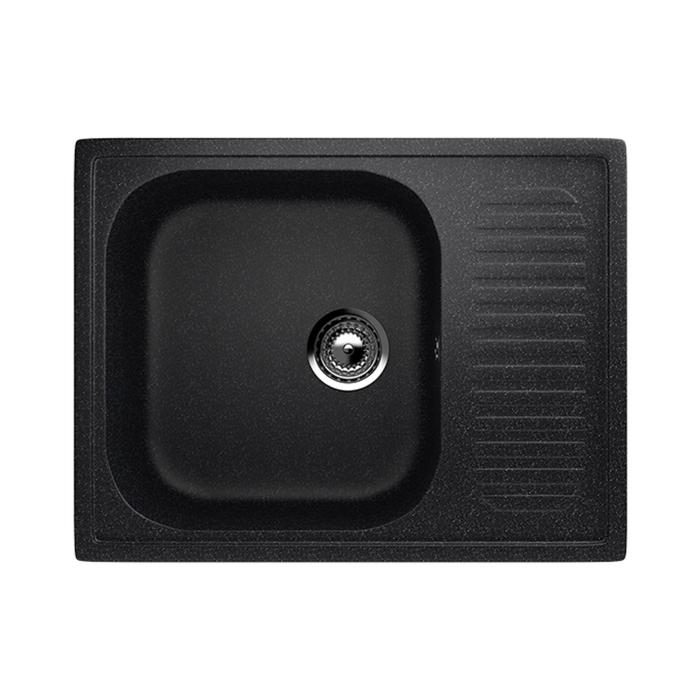 Мойка кухонная Ulgran U202-308, 640х490 мм, цвет чёрный