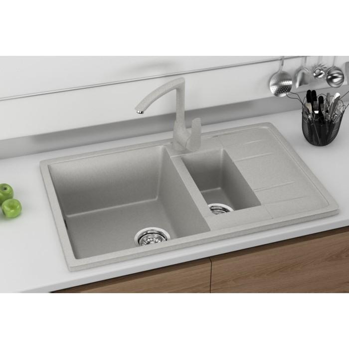 Мойка кухонная Ulgran U205-310, 770х495 мм, цвет серый