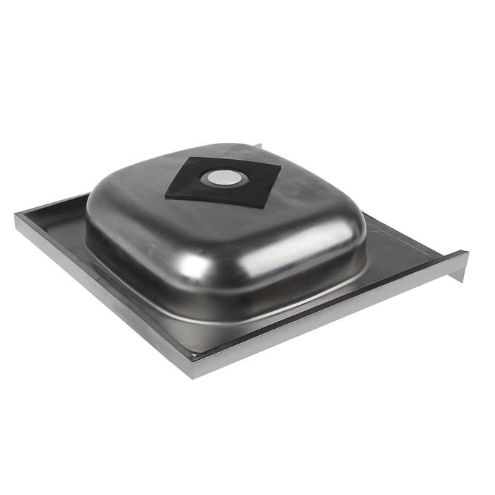"""Мойка кухонная """"Владикс"""", накладная, без сифона, 50х50 см, нержавеющая сталь 0.4 мм"""