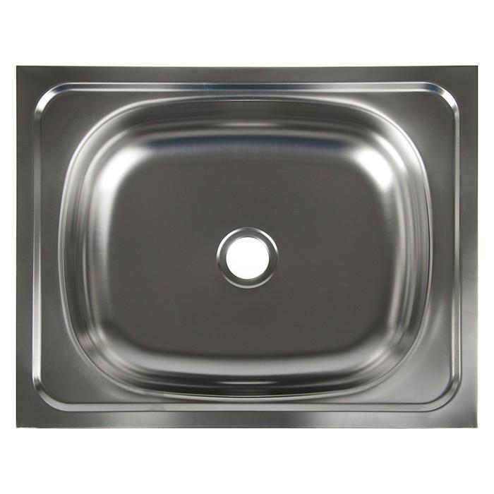 """Мойка кухонная """"Владикс"""", накладная, без сифона, 40х50 см, нержавеющая сталь 0.4 мм"""