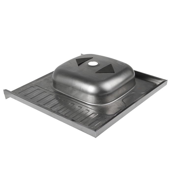 """Мойка кухонная """"Владикс"""", накладная, без сифона, 60х60 см, левая, нержавеющая сталь 0.4 мм"""