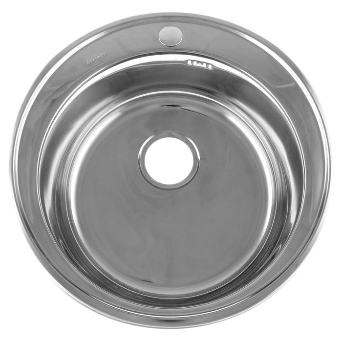 Мойка кухонная Accoona A25151-6, врезная, толщина 0.6 мм, 510 х 180 мм, глянец