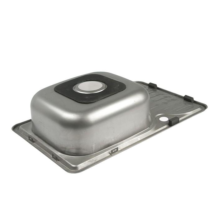 Мойка кухонная Accoona AB4266, врезная, толщина 0.6 мм, 660х420х165 мм, глянец