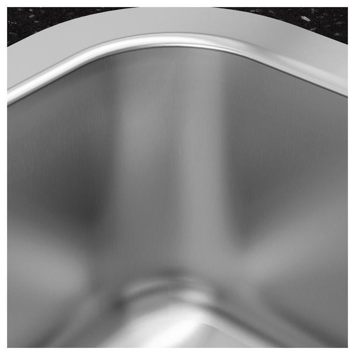 """Мойка кухонная """"Бухольмен"""", врезная, нержавеющая сталь"""