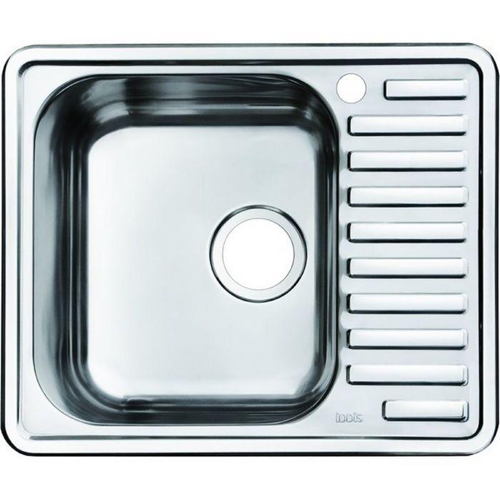 Мойка для кухни IDDIS Strit S, STR58PLi77, полированная, чаша слева, 585х485 мм