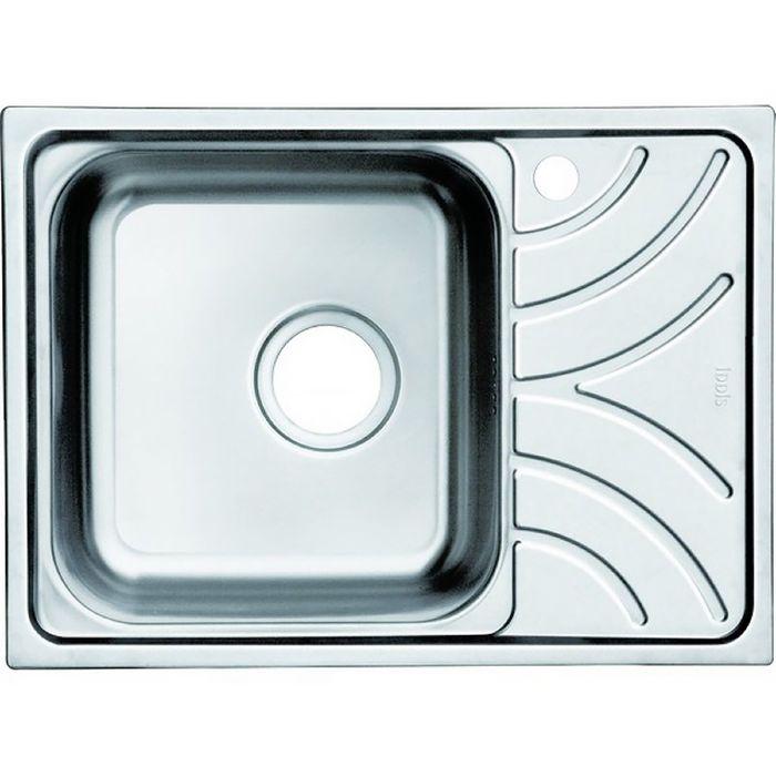 Мойка для кухни IDDIS Arro S, ARR60SLi77, шелк, чаша слева, 605х440 мм