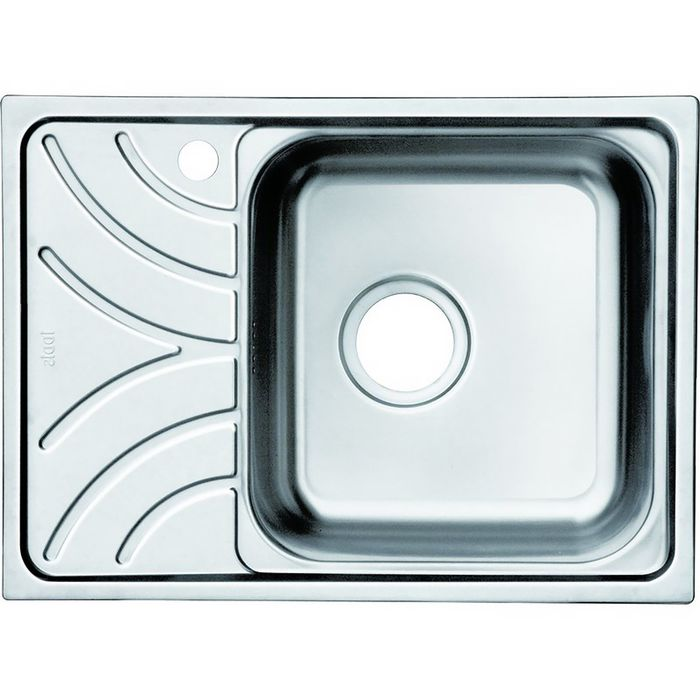 Мойка для кухни IDDIS Arro S, ARR60PRi77, полированная, чаша справа, 605х440 мм
