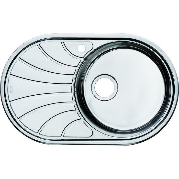 Мойка для кухни IDDIS Suno S, SUN77SRi77, шелк, чаша справа, 770х480 мм