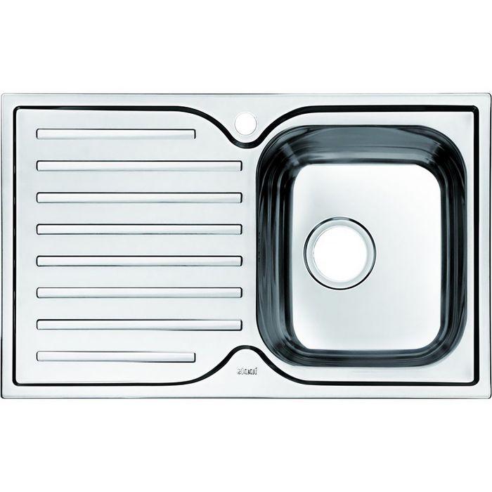 Мойка для кухни IDDIS Strit S, STR78SRi77, шелк, чаша справа, 780х480 мм