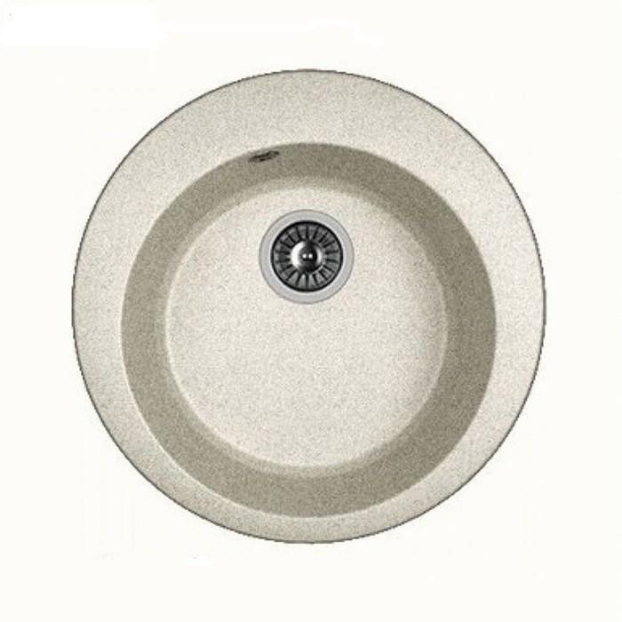Мойка кухонная из камня Dr.Gans «Гала G510», d=510 мм, цвет серый
