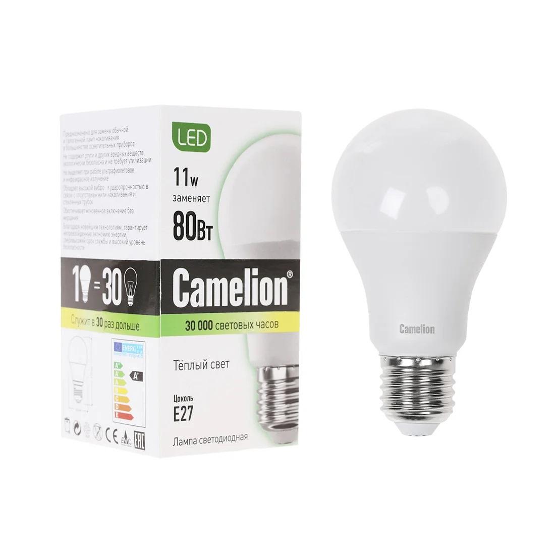 Лампочка Camelion А60/6500К/E27/11Вт, Дневной