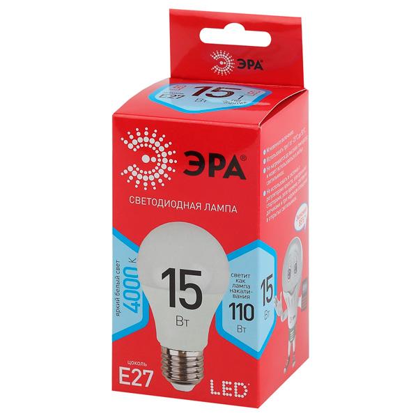 Лампа светодиодная ЭРА LED A60-15W-840-E27 R