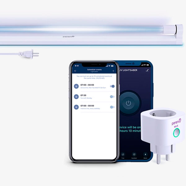 Умный комплект безопасности Perenio UV Lightsaber (PEKUV01)
