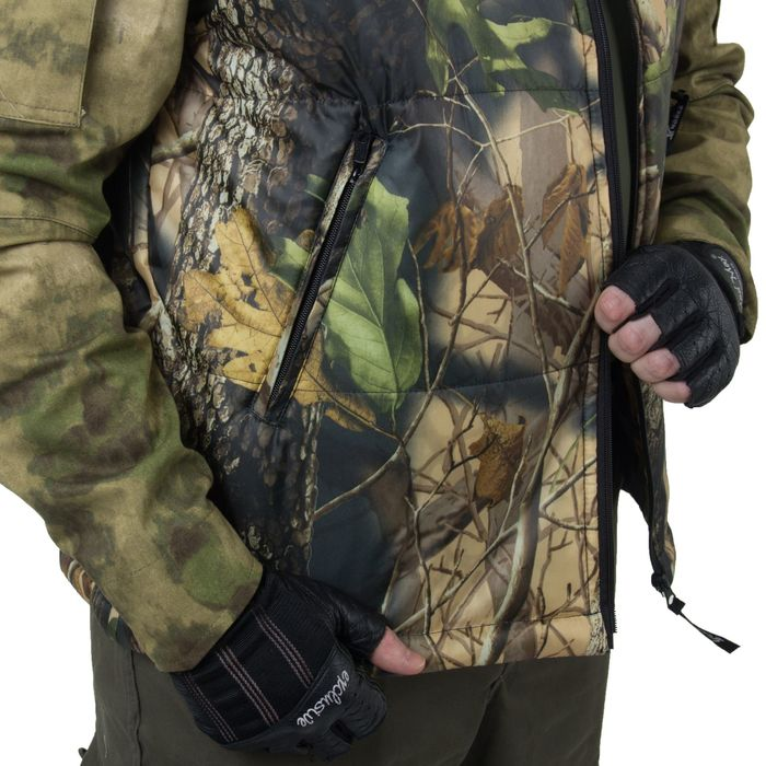 Жилет для активного отдыха «Охотник», размер 48-50, цвет лесная чаща