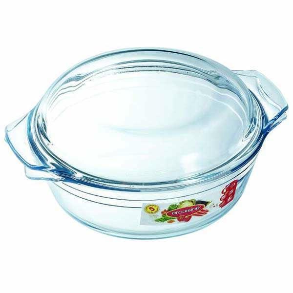 Термостойкая посуда с крышкой круглая 1л Pyrex Аркосин 207АА00/3