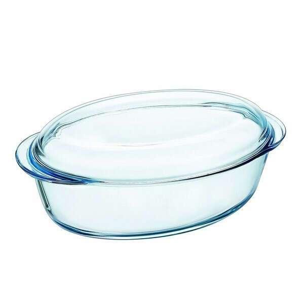 Термостойкая посуда с крышкой овальная 4 (3+1)л.Pyrex 459А000/W243/3