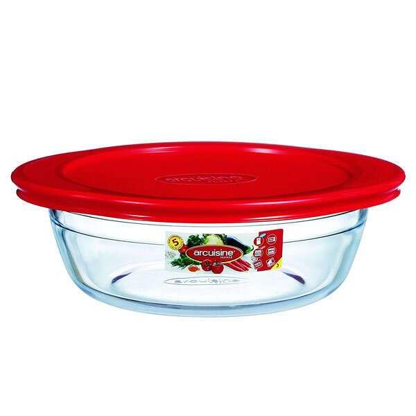 Термостойкая посуда круглая с крышкой 1л Pyrex Аркосин 207PА00/Е2077962