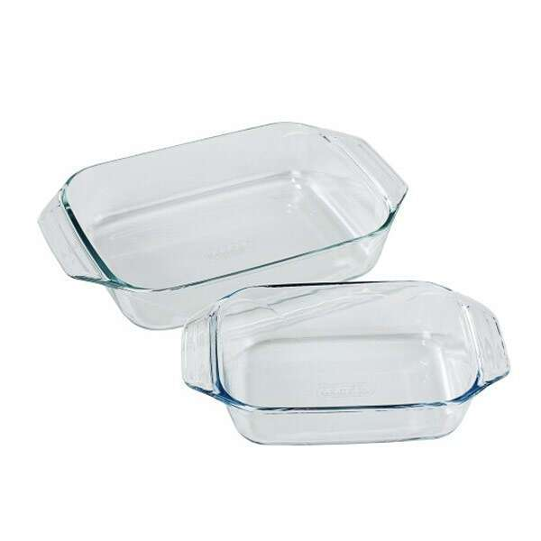 Термостойкий набор посуды 2 блюда (408B+409B,411В+412В) Pyrex 912S732/802