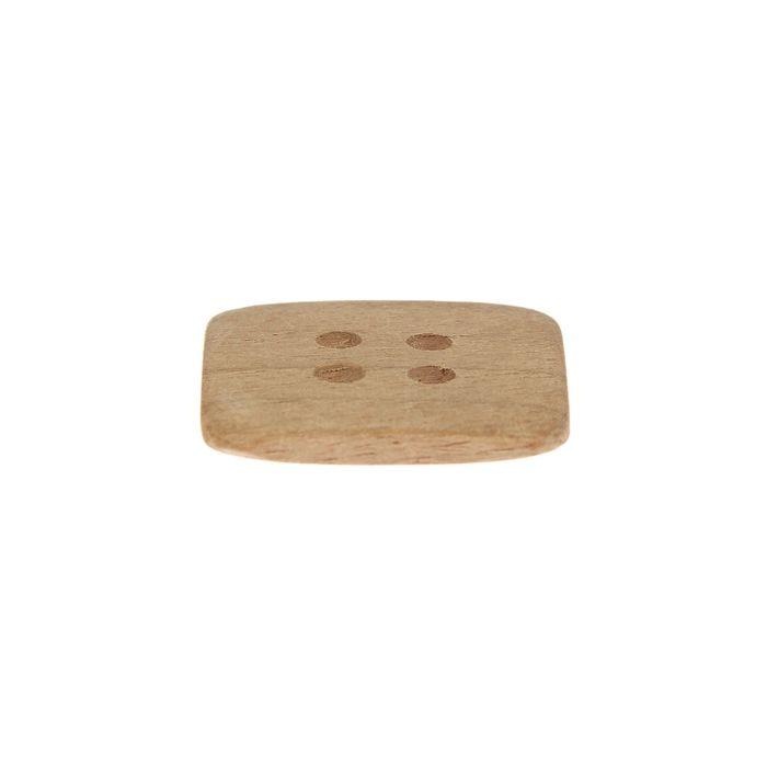 Пуговица с четырьмя отверстиями, квадратная 30 мм