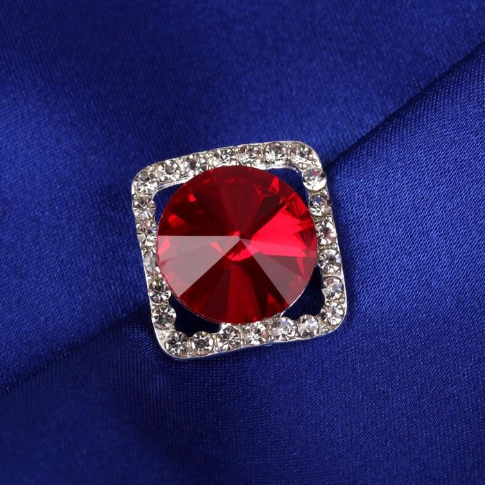 Пуговица декоративная, 18 × 18 мм, цвет красный