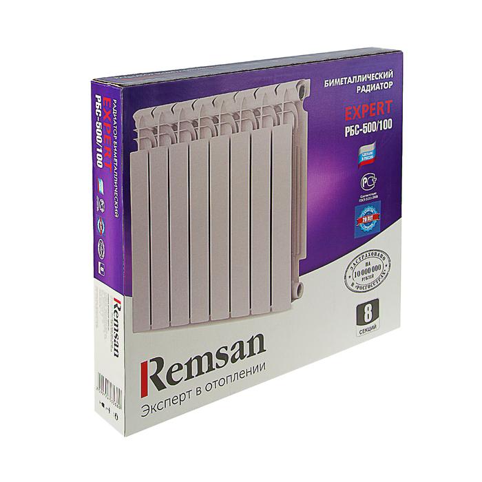 Радиатор биметаллический REMSAN EXPERT РБС, 500 × 100, 8 секций